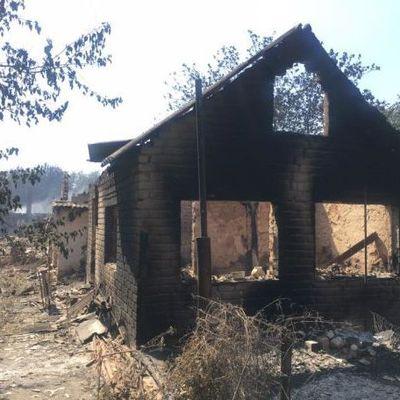 Последствия пожаров в АТО, которые уничтожают городки и позиции (фото)