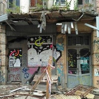 В центре Киева упал балкон