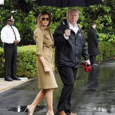 Супруга Трампа вновь надела 10-сантиметровую шпильку в затопленном Техасе
