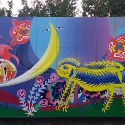 С ума сойти: Киев украсили психоделическими узорами (фото)