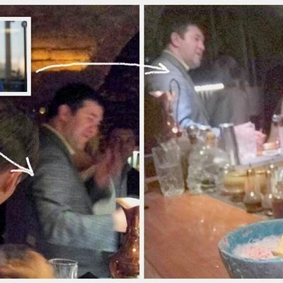 В Киеве заметили Насирова за стойкой бара