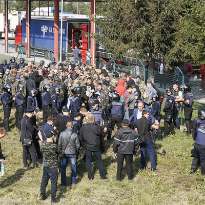 На границе с Польшей произошла стычка сторонников и противников Саакашвили (видео)