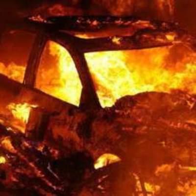 Водитель сжег свой внедорожник, на котором насмерть сбил 20-летнего мотоциклиста