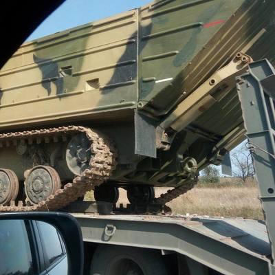 ОБСЕ продемонстрировала фото колонн военной техники под Луганском (фото)