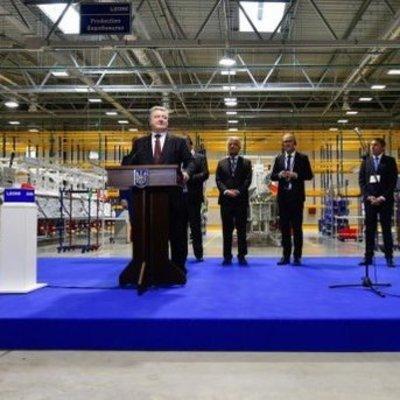 Porsche и Lamborghini: Порошенко открыл новый завод