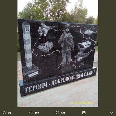 На Троещине в Киеве появился памятник добровольцам АТО (фото)