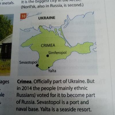 В учебнике по географии Крым дорисовали России