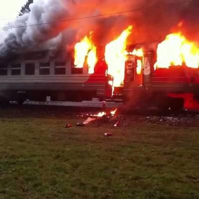 Стала известна предварительная причина пожара в поезде в Николаевской области