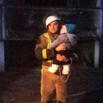 На Киевщине из пожара вынесли полугодовалого ребёнка