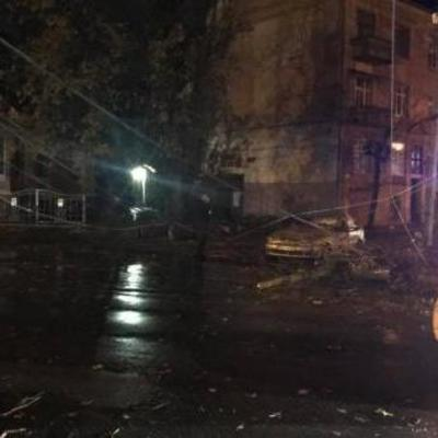 В Черновцах ураган сломал деревья и оборвал провода по всему городу