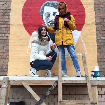 В Киеве появился мурал с портретом знаменитого наркобарона