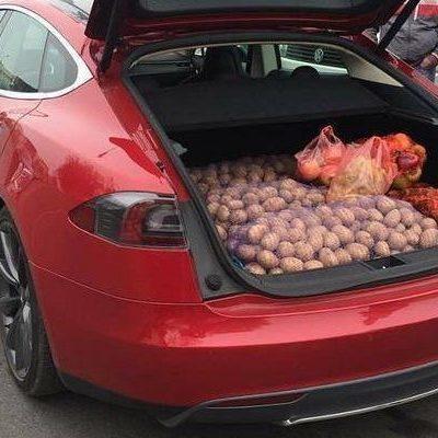 «Довели народ»: на Осокорках дедушка торгует медом с Tesla Model S (видео)