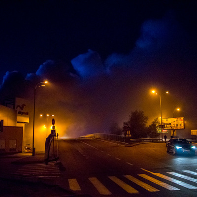 Горит «Ашан»: подробности большого пожара на Шухевича (фото)