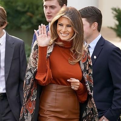 Мелания Трамп на церемонии помилования индейки в Белом доме