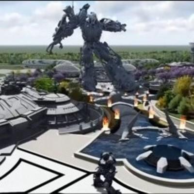 Космические корабли и роботы-великаны: в Китае открыли футуристический парк (видео)