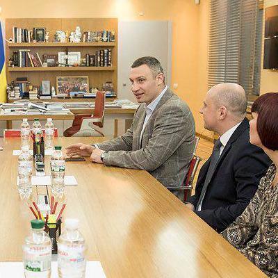 Кличко встретился с руководителями ассоциаций городов Польши и Франции
