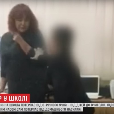 Киевского второклассника, терроризировавшего учеников и учителей, увезли на реабилитацию (видео)