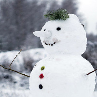 Луцком ездило авто с снеговиком на капоте (фото)