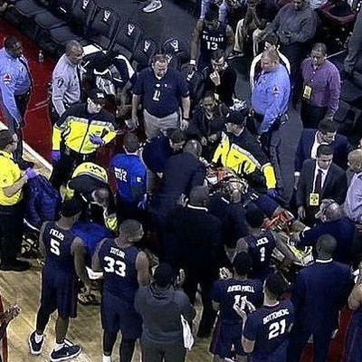 Сердце баскетболиста NCAA остановилось прямо во время матча