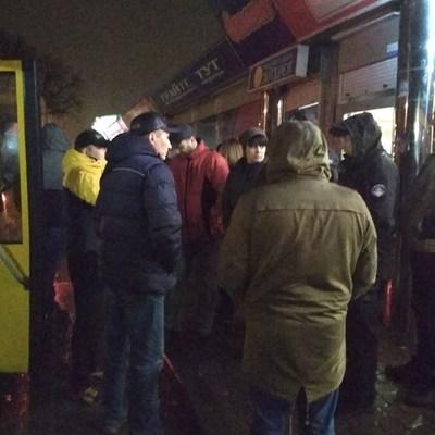 Под Киевом ветераны АТО проучили водителя маршрутки (видео)