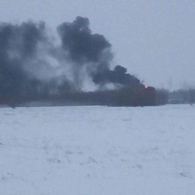 Под Киевом горит нефтебаза (фото)