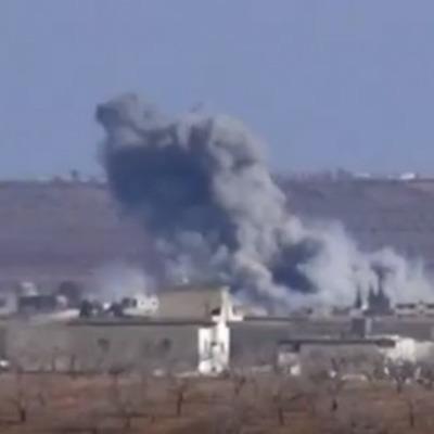 Россияне бомбят мирное население в Сирии (видео)