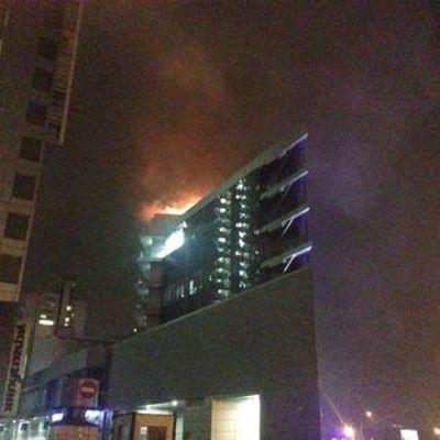 В Киеве горел бизнес-центр Silver Breeze (видео)
