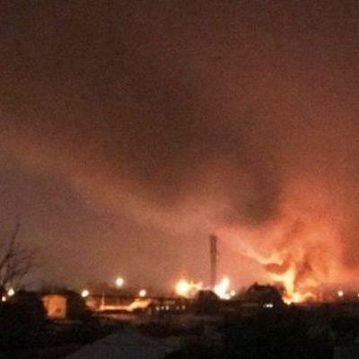 На Полтавщине в телебашню врезался вертолет: возник пожар, есть жертвы