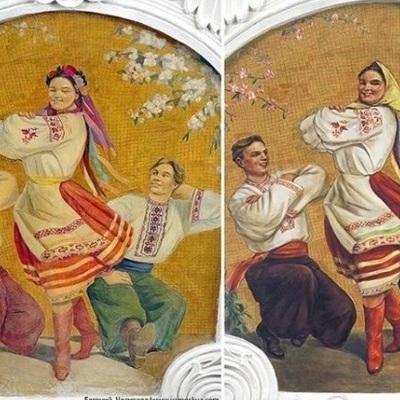 «Деукраинизировали»: на фреске в московском метро украинке заменили венок на платок (фото)