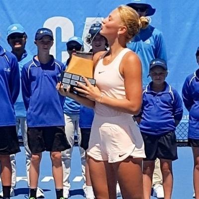 15-летняя Костюк стала победительницей теннисного турнира в Австралии