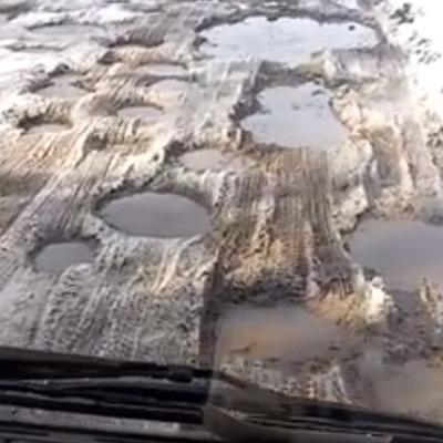 20 километров ужаса и шока: видео поездки по самой кошмарной дороге в Украине