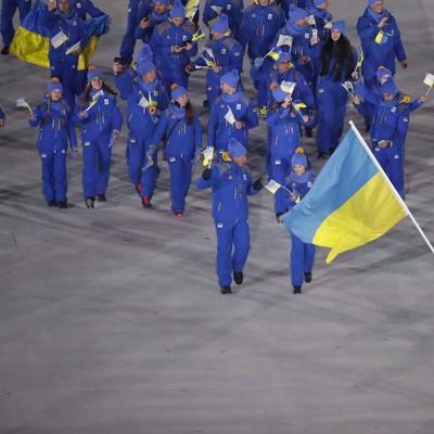 Сборная Украины прошла по Олимпийскому стадионе в Пхенчхане на Церемонии открытия