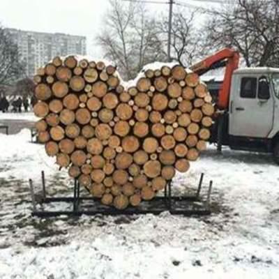 В Киеве появилась необычная инсталляция