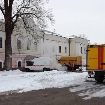 В Киеве музей Ивана Гончара залило горячей водой