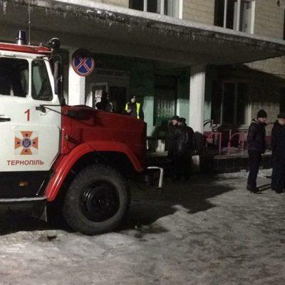 В Тернополе горела детская больница, есть пострадавшие