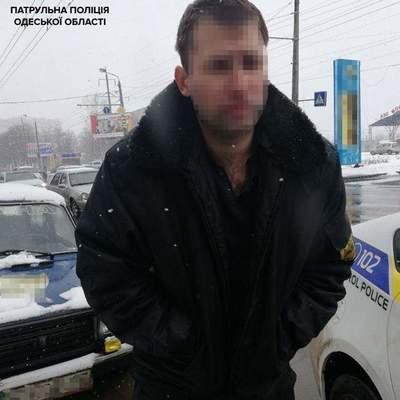 В Одессе пьяный сотрудник охранного агентства мчался по городу с оружием и с включенной сиреной