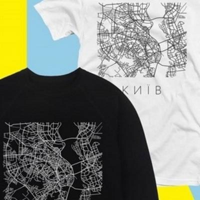 В Киеве выпустили свитшоты и футболки с картой города