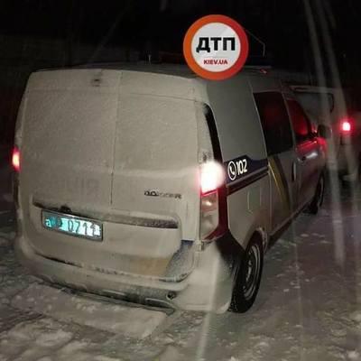 Под Киевом патрульные устроили ДТП (фото)