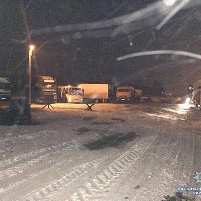 Автобус с австрийцами застрял в снежных заносах на дороге в Запорожской области (фото)