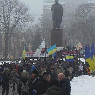 В Киеве сторонники Саакашвили проводят митинг (видео)