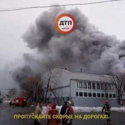 В Киеве масштабный пожар