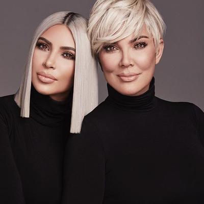 Кадр дня: Ким Кардашьян с мамой и бабушкой в рекламе KKW Beauty
