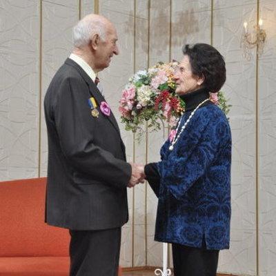 В Киеве пенсионеры отметили «платиновую» свадьбу
