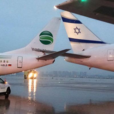 В аэропорту Тель-Авива столкнулись два пассажирских самолета