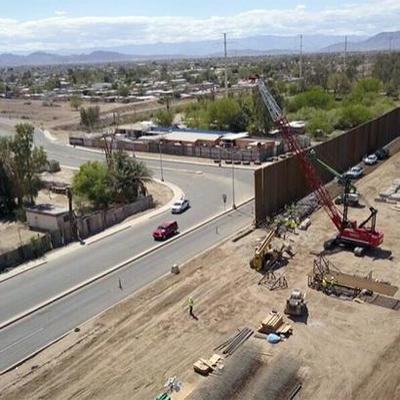 Трамп опубликовал первые фото стены на границе с Мексикой