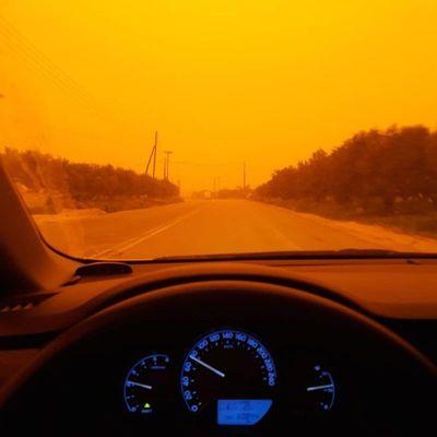 Из-за песчаной бури остров Крит стал похож на Марс (фото)