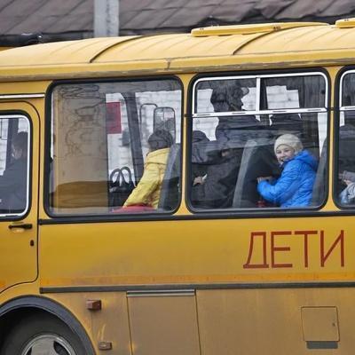 В России загорелся автобус с детьми