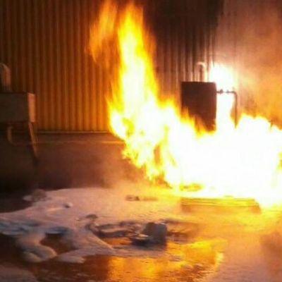 В Запорожье произошел пожар в ТЦ (видео)
