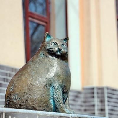 В Одессе установили памятник кошке