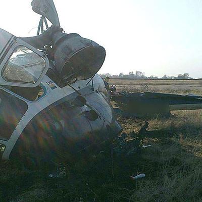 Авиакатастрофа в Полтавской области: упал вертолет с людьми на борту